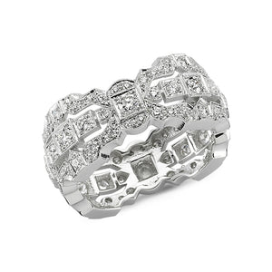 18kt white gold and diamond band