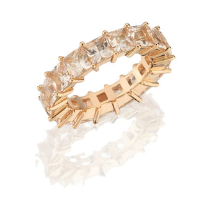Load image into Gallery viewer, 18kt pink gold morganite band