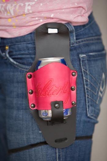 Black and Pink Leather Holster