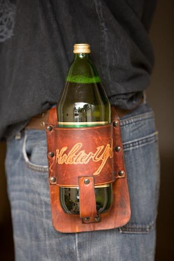 40 oz Leather Holster - Brown