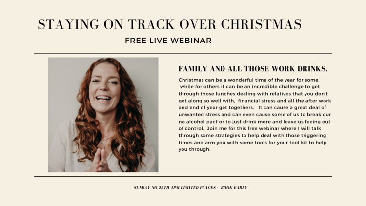 Free Webinar - Staying on track over the Christmas period. 4:00 pm  5:15 pm