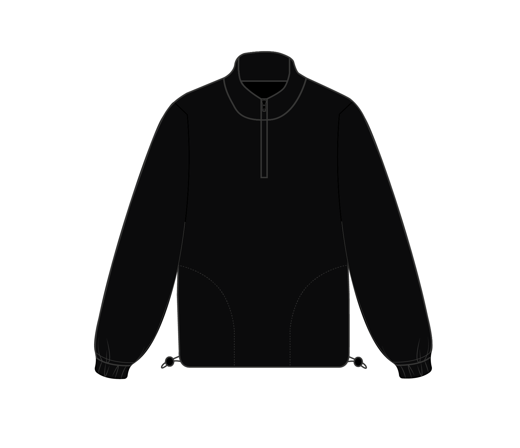 Fleece Q-Zip - Stash Basics
