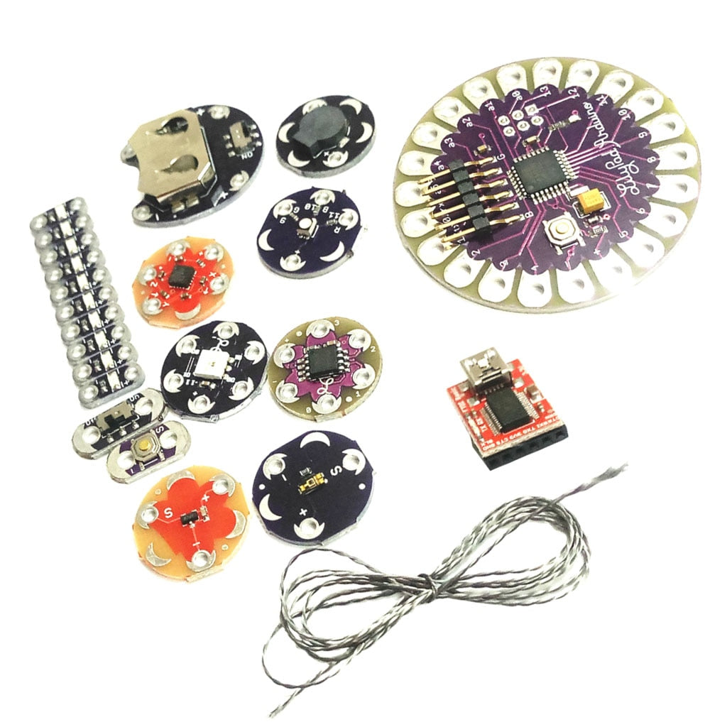Wearables Kit with Lilypad (57-Piece Kit)