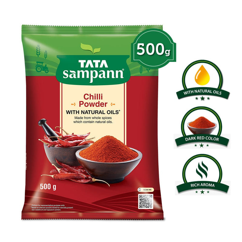 Tata Sampann Chilli Powder, 500 GM