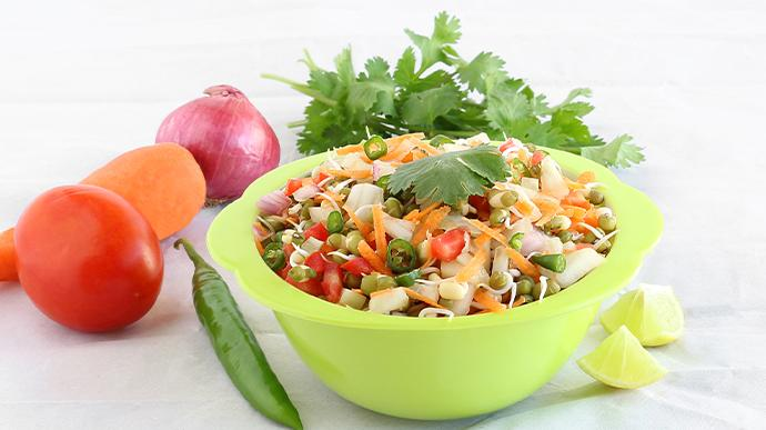 Carrot and Moong Sprouts Salad