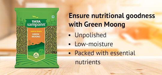 Ensure nutritional goodness with Green Moong