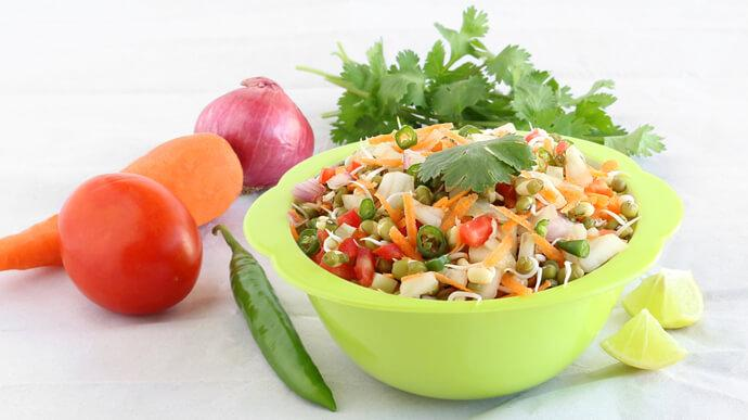 Green Moong Sprout Salad