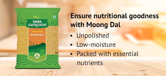 Ensure nutritional goodness with Moong Dal