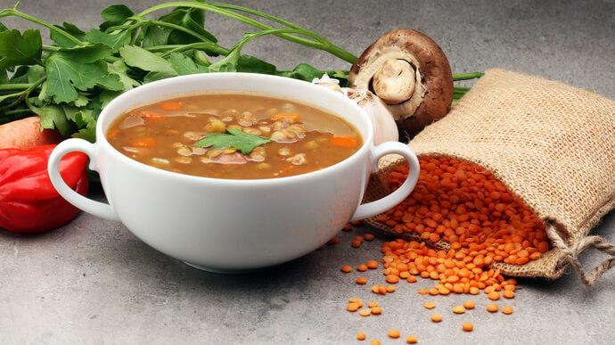 Carrot and Dal Soup