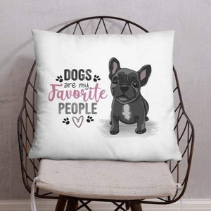 Dogs Are My Favorite People - Silky Throw Pillows