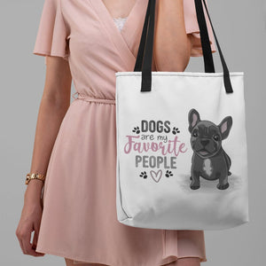 Dogs Are My Favorite People - Large Canvas Tote Bag
