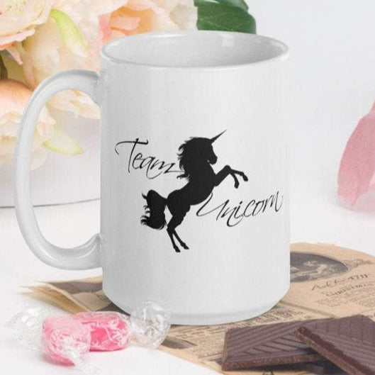 Team Unicorn - White Glossy Mug - Ceramic Mug - Coffee Mug - Handmade Mug - Unicorn Gifts