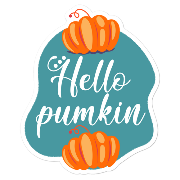 Hello Pumpkin - Vinyl Sticker - No Bubble - Multiple Sizes
