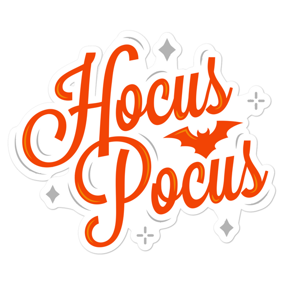 Hocus Pocus - Vinyl Sticker - No Bubble - Multiple Sizes - Halloween