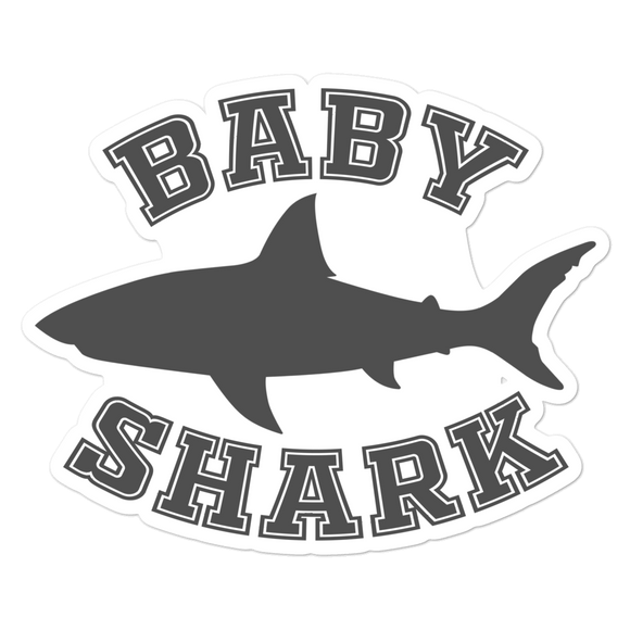Baby Shark - Vinyl Sticker - No Bubbles - Multiple Sizes - Vinyl Decal - Laptop Sticker