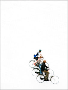 Fine Art Photograph on Hahnemühle Museum paper Berlin Cyclists, Brandenburg gate