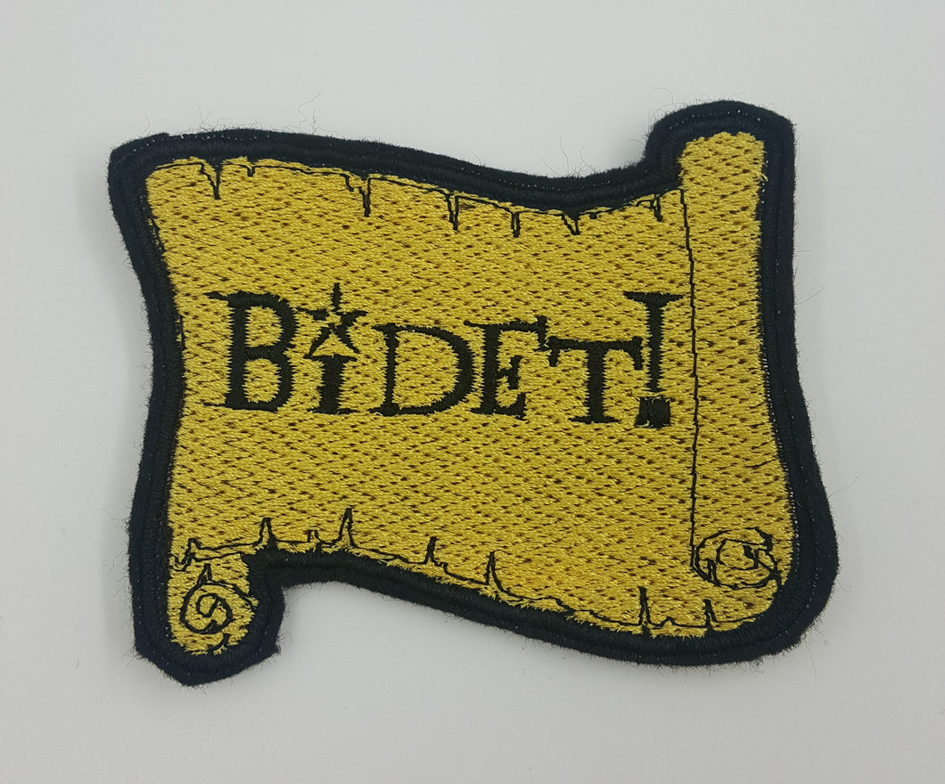 Bidet! Scroll Patch Fully Embroidered Felt