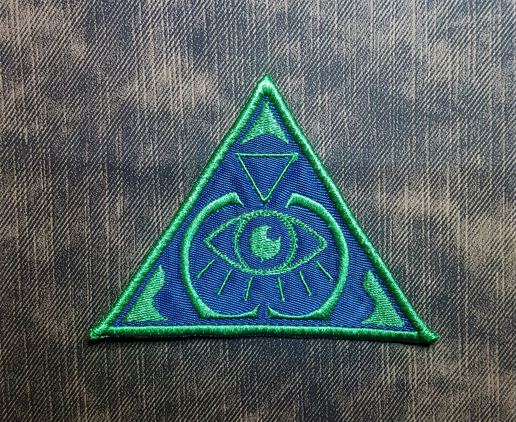 All-Seeing Eye Patch, Monk Tattoo Badge Embroidered Twill, Illuminati Conspiracy Theory Patch, Dungeons and Dragons Show, D&D Twitch Stream