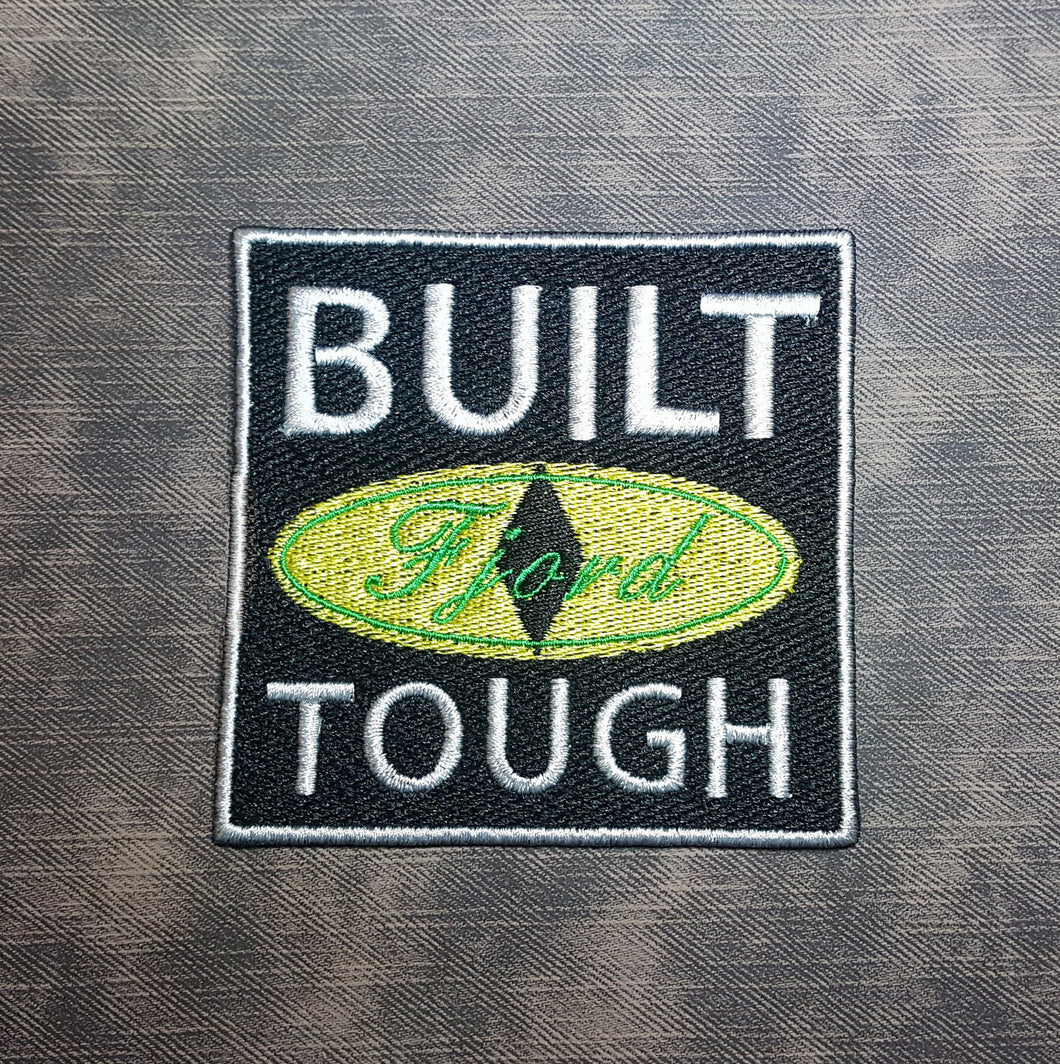 Built Tough CR-Inspired Fully Embroidered Patch, Half-Orc Warlock Paladin, Captain Tusk Tooth, Popular DnD Web Series, Perfect for Cosplay