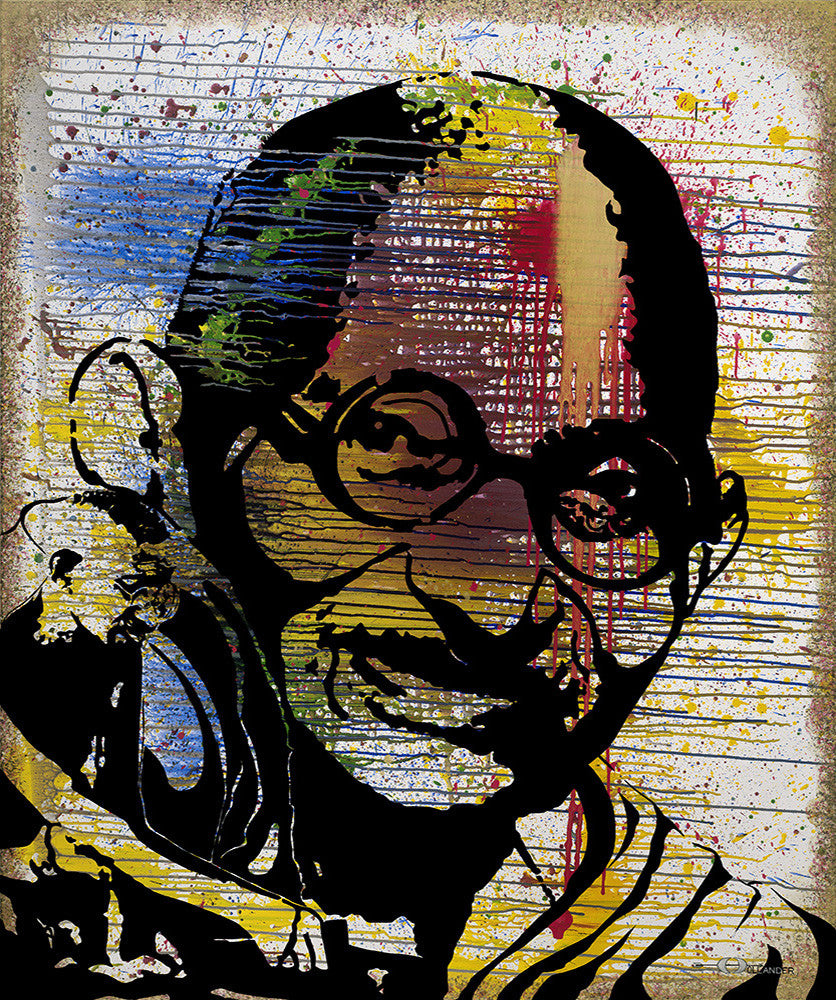 "Mahatma Gandhi, My Life is My Message <div class=""giclee"">giclee print</div>"