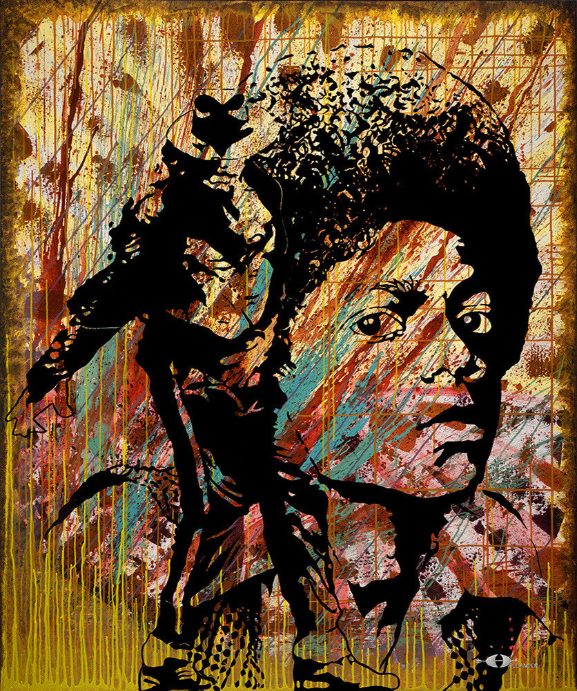 "Michael Jackson Abstraction <div class=""giclee"">giclee print</div>"
