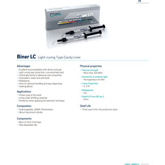 Meta Biomed BINER LC LIGHT CURE CAVITY LINER 2X 2g 10 TIPS