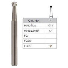 Carbide Dental bur  (size 014) Long 24mm  3 pieces per pack