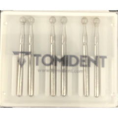 Long round Diamond bur (medium 022) 6 pieces per pack A4LM