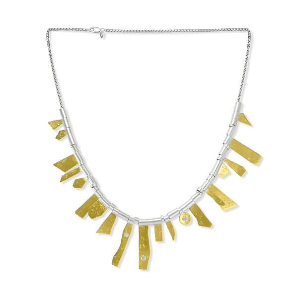 Gold Sunrays Short Necklace