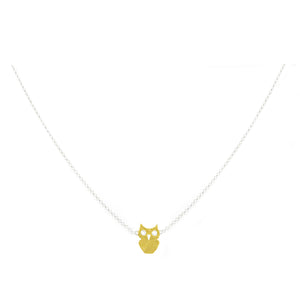 Mini Owl: Gold and Silver Mini Necklace