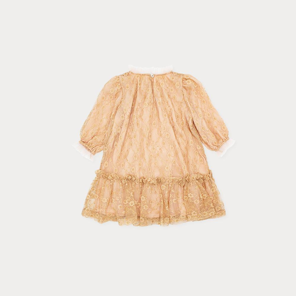 BABY) LACE VOLUME DRESS - Claudine USA