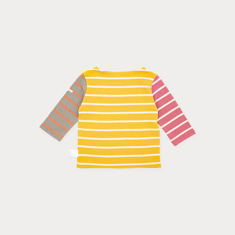 THREE COLOR STRIPE T-SHIRT