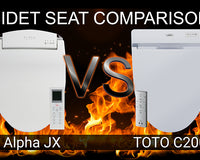 Alpha JX vs TOTO C200 SW2044 Washlet: Bidet Toilet Seat Comparison