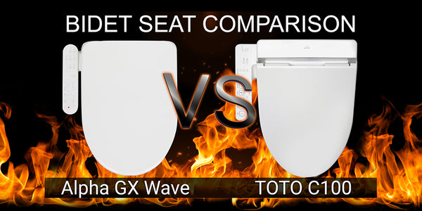 Alpha GX Wave vs TOTO C100 SW2034 Washlet: Bidet Toilet Seat Comparison