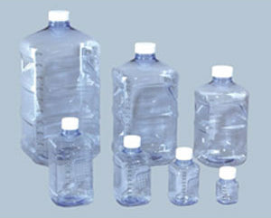 series of water bottles at different sizes