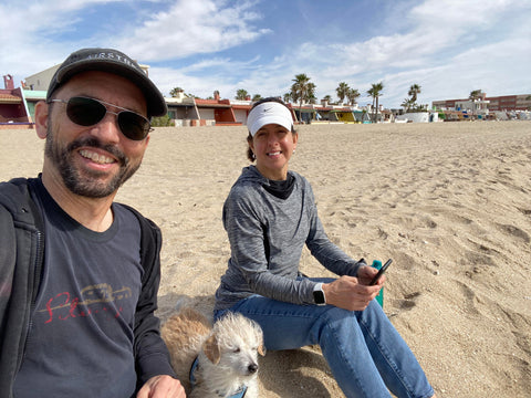Tothie and Rich on the Beach in Rocky Point Mexico
