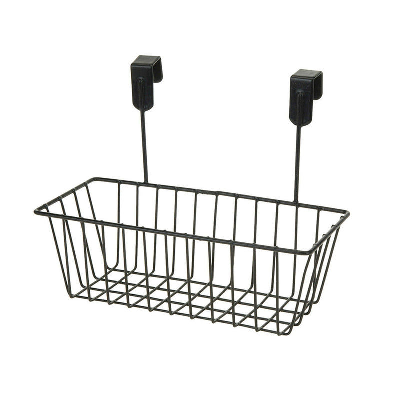 Metal Basket With Hooks | Black