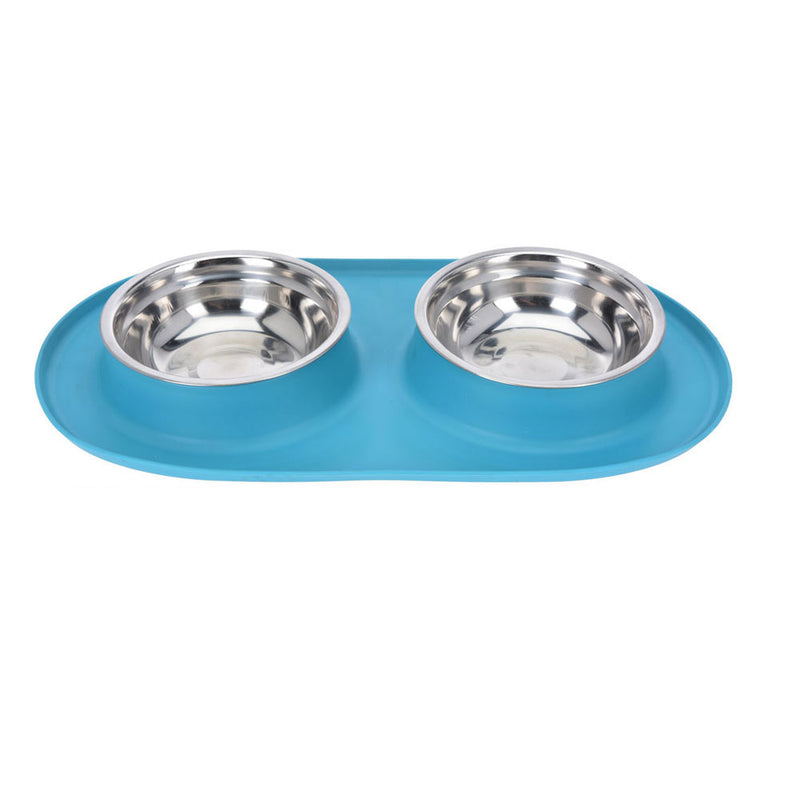 Non-slip Dog Bowl Set | Blue