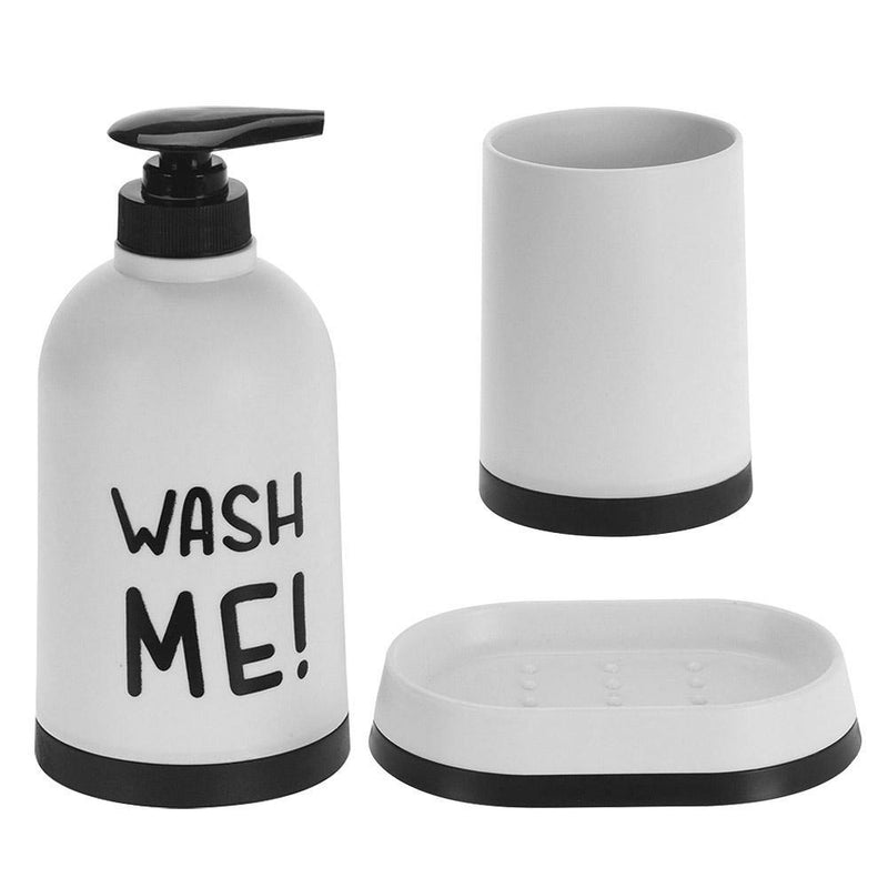 Bathroom set with text 3pc