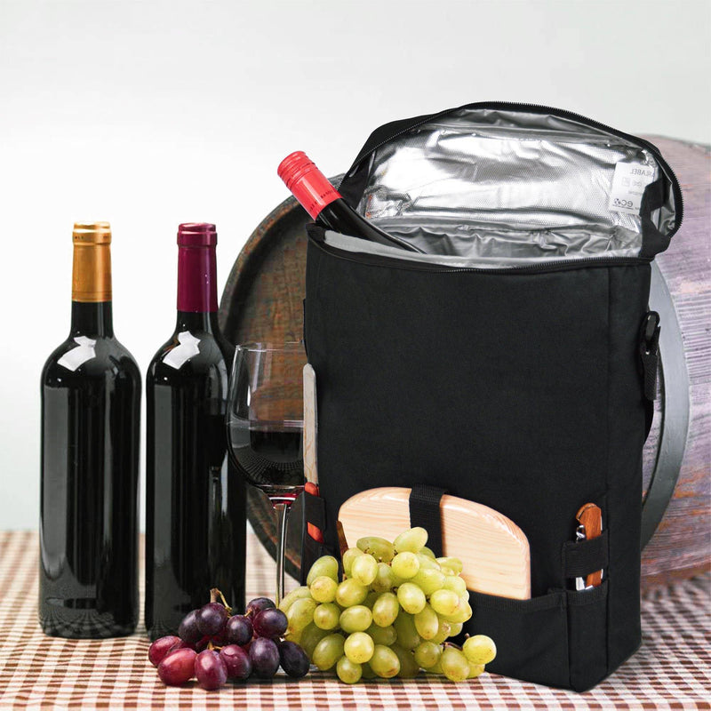 Cheeseboard and 2 Wine Bottle Cooler Carrier