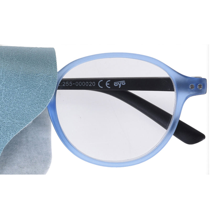 Round Reading Glasses with Pouch