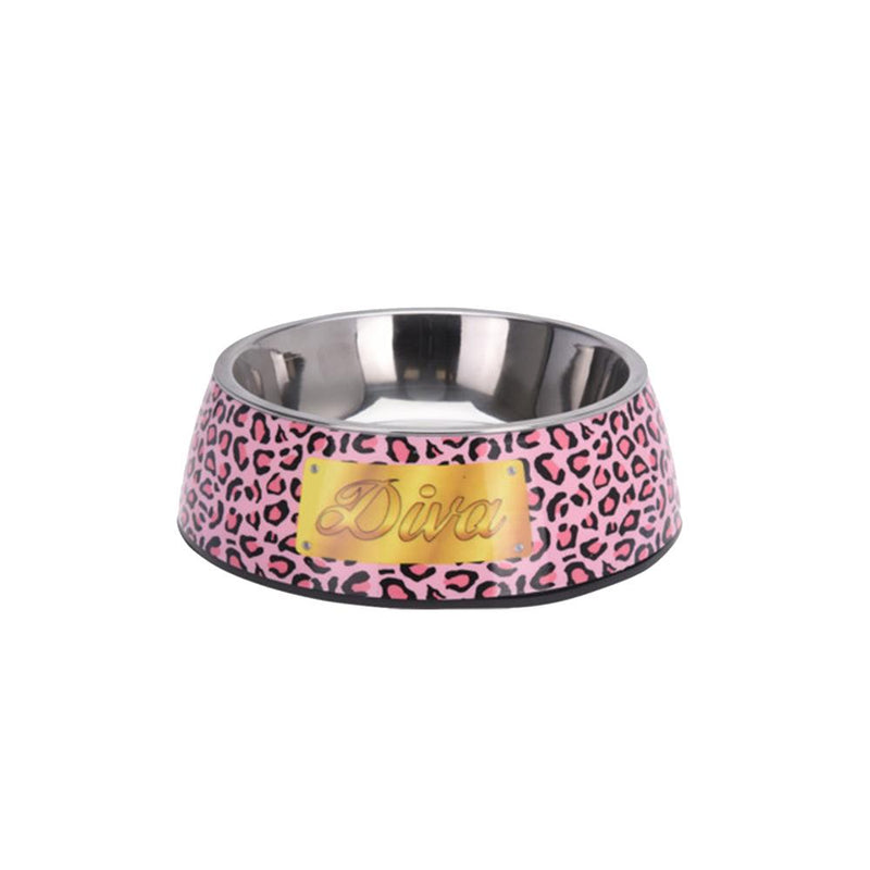 Stainless-Steel Dog Bowl with Non-Slip Feet