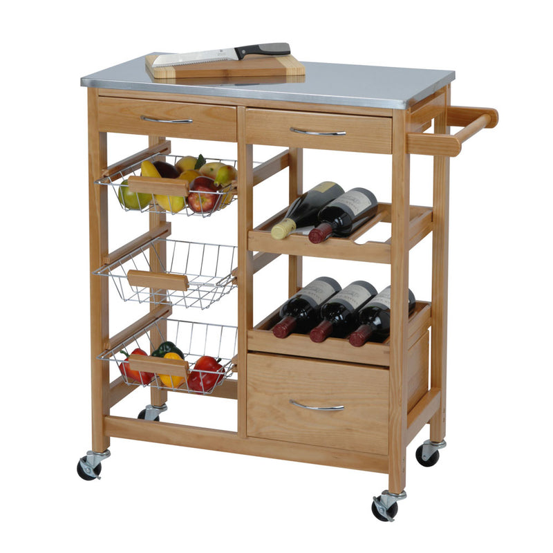 Kitchen Trolley made from Pinewood