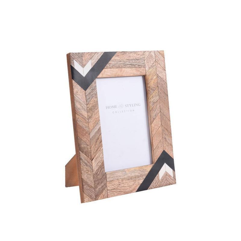 Wooden Photo Frame - Tribal Design