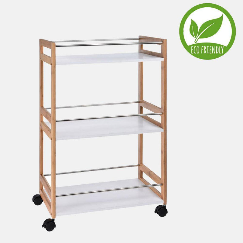 Eco Bamboo Kitchen Trolley