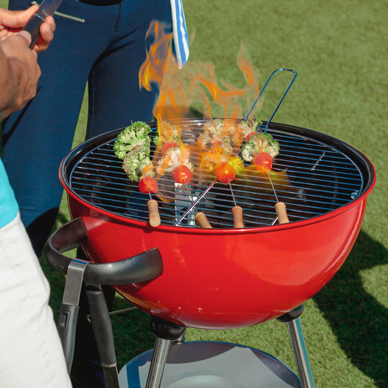 Outdoor Charcoal Braai Grill | Red