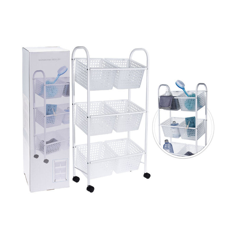 Bathroom Trolley with 6 Baskets