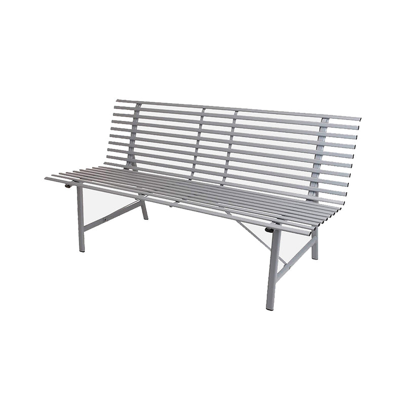 Metal Bench With Oval Frame