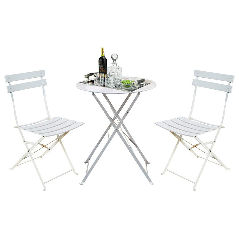 Bistro Set of 3 Pieces - White