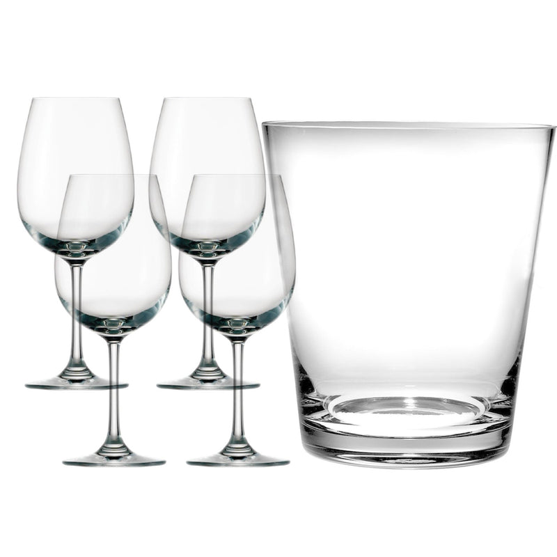 White Wine Glasses With Ice Bucket